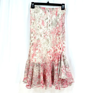 Jones New York Floral Skirt SZ 10 Flare Ruffles